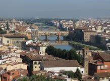 Florence cityscape panorama Stock Photos