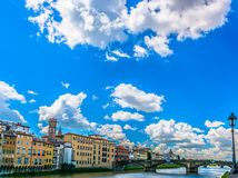 Florence cityscape during spring time, Italy. Stock Images