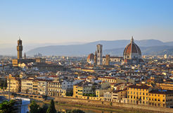 Florence cityscape on sunset Royalty Free Stock Photo