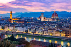 Florence cityscape in Tuscany, Italy Stock Photos
