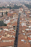 Florence cityscape with Via dei Servi Royalty Free Stock Images