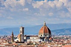 Florence Cityscape y Duomo Santa Maria Del Fiore, Firenze, AIE fotografía de archivo libre de regalías