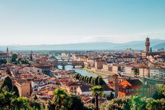 Florence cityspace from Piazzale Michelangelo in Italy. View of Florence cityspace from Piazzale Michelangelo in Italy stock photo