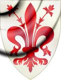 Florence coat of arms, Italy. stock image