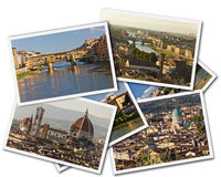 Florence Collage royalty-vrije stock foto