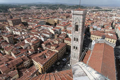 Florence from the coupole of Duomo. View of Florence from the coupole of the cathedral (Duomo Royalty Free Stock Image