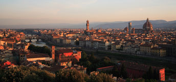 Florence dawn panorama. Image of Florence taken at dawn with lovely warm light Royalty Free Stock Photo