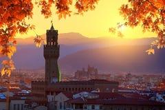Florence in de herfst stock afbeeldingen