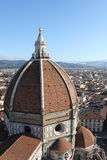 Florence, de Koepel van Brunelleschi stock fotografie