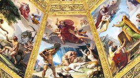 Florence-December 16: Illustrative video of the ceilings of the Medici Chapels,in Florence, Italy. stock video
