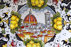 Florence - detail from ceramics Stock Images