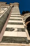 Basilica of Santa Maria Novella - Firenze Italy. Florence. Detail of the facade of the famous Basilica of Santa Maria Novella, UNESCO world heritage site royalty free stock photos