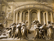 Florence - detail from relief of gate Stock Photos