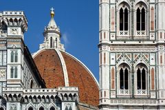 Florence dome. And tower, the town's most famous landmark, done by Bruneleschi Stock Photo