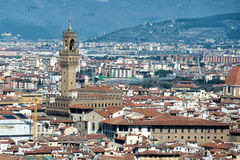 Florence Dome and tower Aerial View Cityscape Stock Image