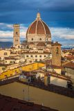 Florence domkyrkakupol i soluppgången Arkivbilder
