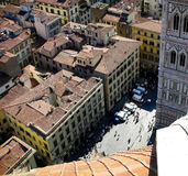Florence From The Duomo. View of the City of Florence from the top of the Duomo Stock Photo
