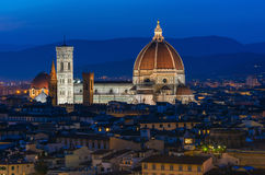 Florence Duomo. Basilica di Santa Maria del Fiore (Basilica of Saint Mary of the Flower) in Florence, Italy Stock Photography