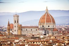 Florence Duomo. Basilica di Santa Maria del Fiore in Florence. B royalty free stock images