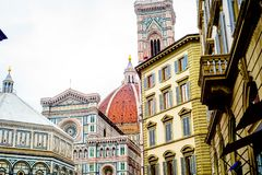 Florence Duomo Cathedral stock afbeeldingen