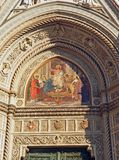 Florence Duomo Cathedral Art detail Stock Image