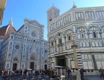 Florence Duomo Cathedral, Cattedrale Santa Maria del Fiore sur le Piazza San Giovanni photos libres de droits