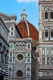 Florence Duomo Cathedral. And piazza in Italy Royalty Free Stock Images