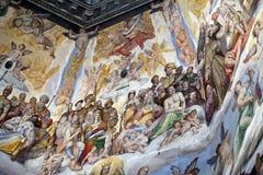 Florence - Duomo. De Dag des oordeels. Stock Fotografie
