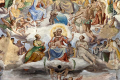 Florence - Duomo. Den sista bedömningen. Royaltyfri Foto