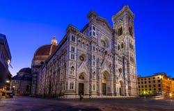 Florence Duomo (Duomo Di Firenze) en en Campanile van Giotto s van Florence Cathedral in Florence, Italië stock afbeeldingen