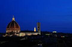 Florence Duomo at dusk Stock Photo