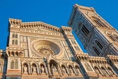 Florence Duomo en de klokketoren van Giotto, stock foto's