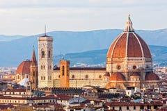 Florence Duomo en de klokketoren van Giotto, royalty-vrije stock afbeeldingen