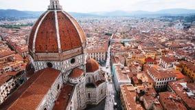Florence Duomo från överkant av den Giotto's campanilen royaltyfri fotografi