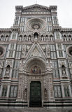 Florence Duomo front and doors Royalty Free Stock Photography