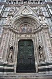 Florence Duomo front and doors Royalty Free Stock Photos