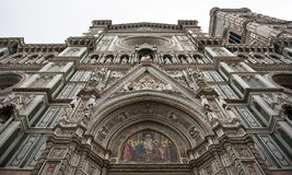 Florence Duomo front and doors Stock Images