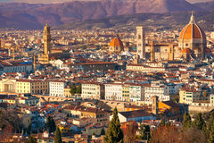 Florence Duomo and Giotto's bell tower, Stock Photos