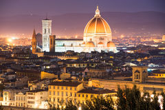 Florence, Duomo and Giotto's Campanile. Stock Photography