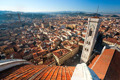 Florence, Duomo and Giotto's Campanile. Panoramic view of Florence from the Cupola of Duomo. Tuscany, Italy stock photo