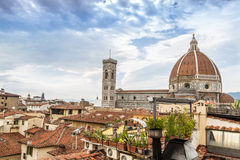 Florence Duomo from the hotel terrace Royalty Free Stock Photos