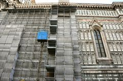 Works at the Florence Duomo, Italy  Royalty Free Stock Photo