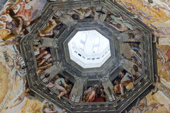Florence - Duomo .The Last Judgement. Stock Image