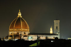 Florence Duomo at night Stock Photography