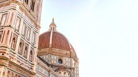 Florence duomo på morgonen Sikt av den Florentine kupolen Arkivbilder