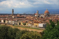 Florence Duomo and Palazzo Vecchio Royalty Free Stock Photo