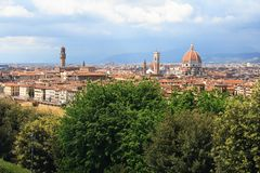 Florence Duomo and Palazzo Vecchio Royalty Free Stock Images