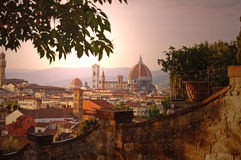 Florence Duomo from Piazzale Michelangelo Royalty Free Stock Image