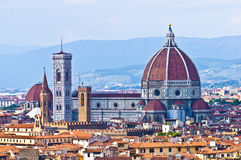 Florence Duomo. Taken from the Belvedere, Florence, Italy Royalty Free Stock Photos