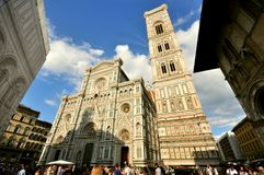 Florence Duomo and tower , art landmark in Italy stock photos